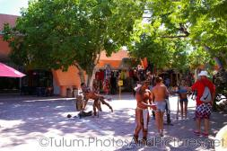 Mayan performers in face paint and costumes near Tulum.jpg