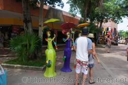 Mexican day of the dead statues at Tulum Ruins shopping center.jpg