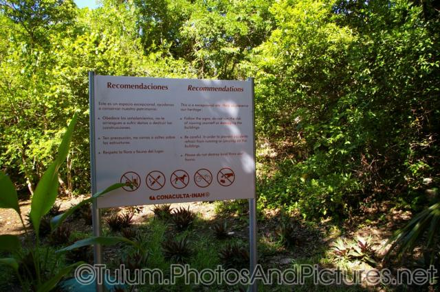 Recommendations sign at the Tulum Mayan ruins site.jpg