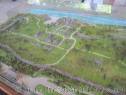 Scale model of the Tulum Mayan ruins site.jpg