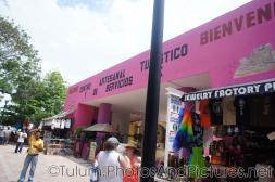 Shops and merchant stalls at Tulum Ruins shopping center.jpg