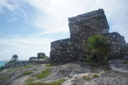 Side opposite of the ocean of the Templo del Dios Viento Caleta at Tulum Ruins.jpg