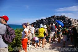 Tulum Mayan Ruins tour group with ocean view.jpg