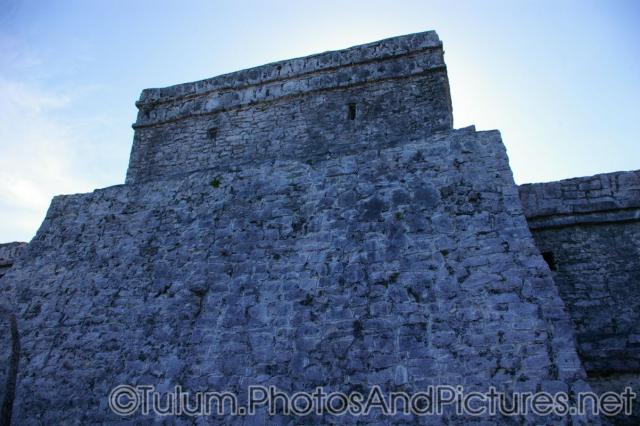 Wall of the Tulum Mayan Ruin main temple.jpg