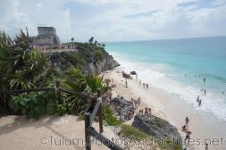 Beach area next to temple at Tulum Ruins.jpg