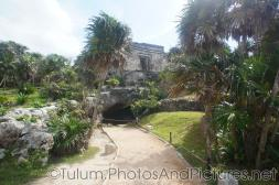 Cave underneath a temple at Tulum Ruins.jpg